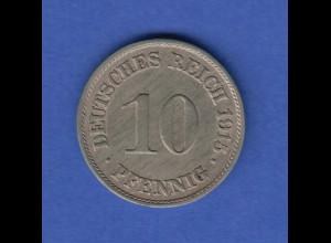 Deutsches Kaiserreich Kursmünze 10 Pfennig A 1915 vorzüglich !