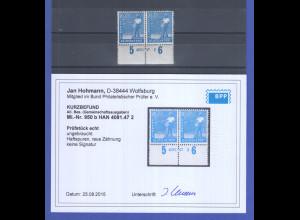 Alliierte Besetzung Mi.-Nr. 950b Unterrandpaar mit HAN , Befund Hohmann