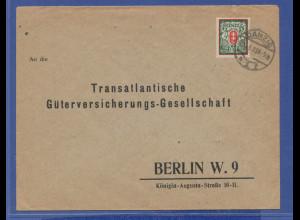 Danzig, Mi.-Nr. 128X, Einzelfrankatur auf Brief nach Berlin