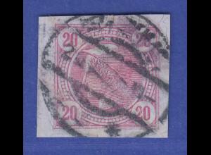 Österreich 1901 Zeitungsmarke mit Lackstreifen 20 H. Mi.-Nr. 104 gest. gepr. BPP