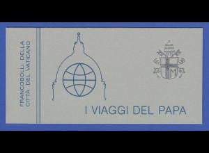 Vatikan Markenheftchen 1984 Mi.-Nr. MH 2 ** Papstreisen