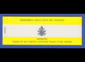 Vatikan Markenheftchen 1982 Mi.-Nr. MH 1 ** Papstreisen