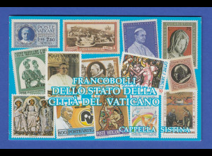 Vatikan Markenheftchen 1991 Mi.-Nr. MH 3 ** Sixtinische Kapelle