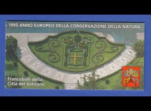 Vatikan Markenheftchen 1995 Mi.-Nr. MH 5 ** Europäisches Naturschutzjahr