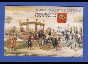 Vatikan Markenheftchen 1997 Mi.-Nr. MH 6 ** Kutschen und Automobile