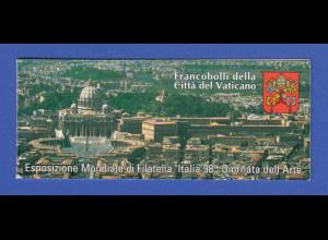 Vatikan Markenheftchen 1998 Mi.-Nr. MH 7 ** ITALIA `98 Mailand