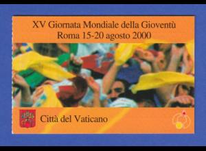 Vatikan Markenheftchen 2000 Mi.-Nr. MH 8 ** Internationaler Tag der Jugend Rom