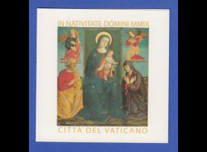 Vatikan Markenheftchen 2009 Mi.-Nr. MH 17 ** Weihnachten Gemälde