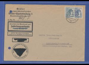 All. Kontrollrat, 92-Pfennig-Frankatur auf Zustellungsurkunde, Berlin