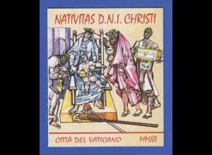Vatikan Markenheftchen 2012 Mi.-Nr. MH 21 ** Weihnachten Glasfenster