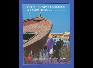 Vatikan Markenheftchen 2013 Mi.-Nr. MH 23 ** Papstreise Lampedusa