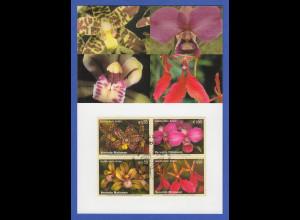 UNO Wien 2005 Orchideen Mi.-Nr. 435-438 mit Ersttagsstempel auf Maximumkarte