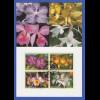 UNO NY 2005 Orchideen Mi.-Nr. 973-976 mit Ersttagsstempel auf Maximumkarte