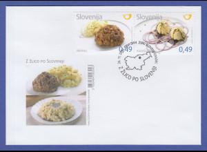 Slowenien 2010 Regionale Küche Mi.-Nr. 874-75 im Paar auf FDC