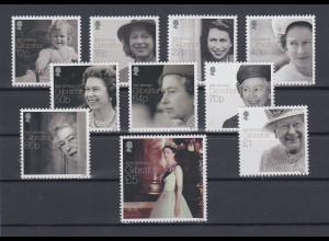 Gibraltar 2016 Mi.-Nr. 1717-26 Satz 10 Werte 90. Geburtstag Königin Elisabeth II