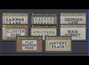 Gibraltar 2016 Mi.-Nr. 1756-63 Satz 8 Werte historische Straßennamen