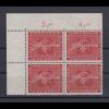 Bundesrepublik 1956 Heinrich von Stephan Mi.-Nr. 227 Eckrand-Vierererblock OL **