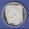 Bundesrepublik 10DM Silber-Gedenkmünze 1991 800 Jahre Deutscher Orden PP