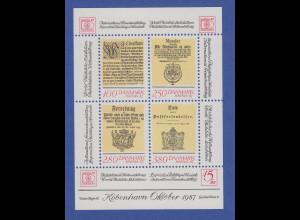 Dänemark 1985 Block 4 ** Briefmarkenausstellung HAFNIA `87 Kopenhagen