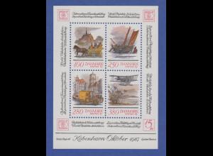 Dänemark 1986 Block 5 ** Briefmarkenausstellung HAFNIA `87 Kopenhagen