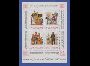Dänemark 1986 Block 6 ** Briefmarkenausstellung HAFNIA `87 Kopenhagen