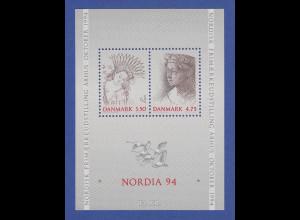 Dänemark 1992 Block 8 ** Briefmarkenausstellung NORDIA `94