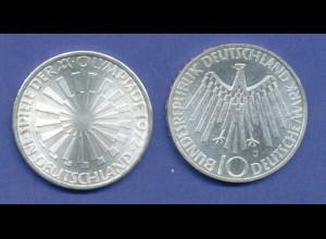 Olympische Spiele 1972, 10DM Silber-Gedenkmünze Spirale DEUTSCHLAND - J