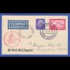 Dt. Reich Zeppelin-Postkarte 4. Südamerikafahrt 1933 Bordpost nach Brasilien