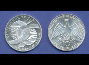 Olympische Spiele 1972, 10DM Silber-Gedenkmünze Verschlungene Arme - G
