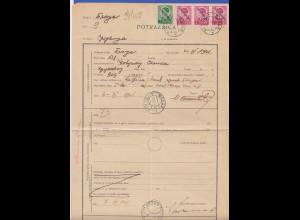 Deutsche Besetzung Serbien, frankierter Nachforschungsauftrag O Blace 2.7.41
