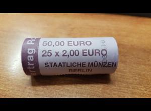 Deutschland 2 Euro Rolle 2007 Römische Verträge A , 25 Stück wie verausgabt