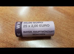 Deutschland 2 Euro Rolle 2009 WWU D , 25 Stück wie verausgabt