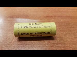 1 Euro Deutschland 2004 25 Stück in Originalrolle, wie verausgabt