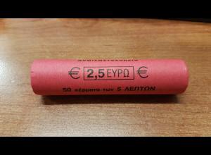 5 Cent Griechenland 2002 50 Stück in Originalrolle, wie verausgabt