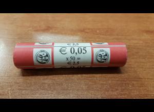 5 Cent Belgien 1999 50 Stück in Originalrolle, wie verausgabt