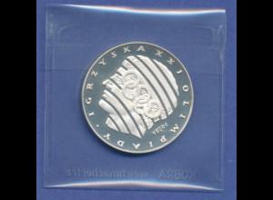 Polen Silbermünze 1976 Olympische Spiele 200Zloty PROBA PP