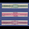 Österreich 1948 Verrechnungsmarken 100-200-500 Schilling Mi.-Nr. 1-3 gestempelt