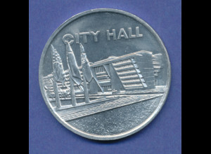 USA Token City Hall, Dallas Texas, Aluminium