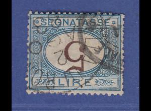Italien Portomarke 5 Lire mit KOPFSTEHENDER WERTZIFFER 5, Mi.-Nr. 13 I gestemp.