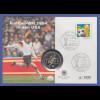 Fußball-WM USA 1994, offiz. DFB-Numisbrief mit Gedenkmünze USA 1/2 Dollar