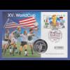 Fußball-WM USA 1994, Numisbrief mit Silbermünze Niue 5$