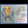 Fußball-WM USA 1994, Numisbrief mit Silbermünze Cook Island 5$