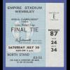 Fußball-WM England 1966 Origin.-Ticket für das FINALE am 30.7.66 Wembley-Stadion