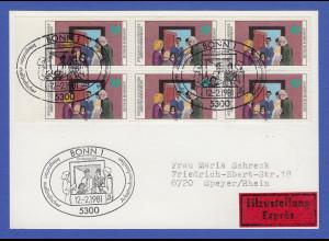 Bundesrepublik 1981 Integration Mi.-Nr 1086 per 6 portogerecht auf FDC-Karte
