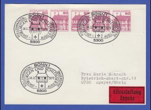 Bundesrepublik 1979 Dauerserie Mi.-Nr 1028 per 5 portogerecht auf FDC-Karte
