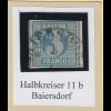 Bayern 3 Kreuzer blau TYPE I Mi.-Nr. 2I gestempelt mit Halbkreis-O BAIERSDORF
