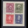 Bundesrepublik Wohlfahrt 1949 Mi.-Nr. 117-120 auf Briefstück