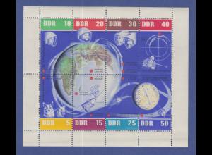 DDR 1962 Kleinbogen 5 Jahre Sowjetische Weltraumflüge Mi.-Nr. 926-33 KLB **