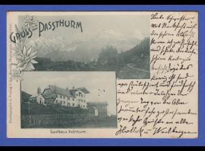 AK Österreich Kitzbühl Gruss vom Passthurm 1900