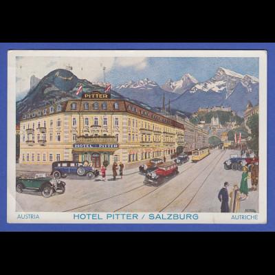 AK Österreich Salzburg Hotel Pitter 1933